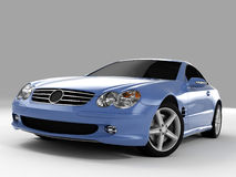 Mercedes SL 500. Realistic render three-dimensional model of the light-blue Mercedes SL 500 Royalty Free Stock Image