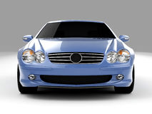 Mercedes SL 500. Realistic render three-dimensional model of the light-blue Mercedes SL 500 Stock Photos