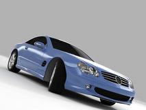 Mercedes SL 500. Realistic render three-dimensional model of the light-blue Mercedes SL 500 stock photography