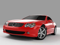 Mercedes SL 500. Realistic render three-dimensional model of the red Mercedes SL 500 Stock Photography