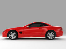 Mercedes SL 500. Realistic render three-dimensional model of the red Mercedes SL 500 Stock Images