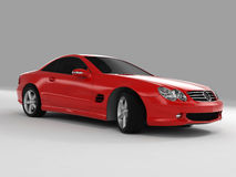 Mercedes SL 500. Realistic render three-dimensional model of the red Mercedes SL 500 Royalty Free Stock Photos