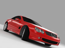 Mercedes SL 500. Realistic render three-dimensional model of the red Mercedes SL 500 Royalty Free Stock Photography