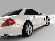 Mercedes SL 500. Realistic render three-dimensional model of the white Mercedes SL 500 Stock Image