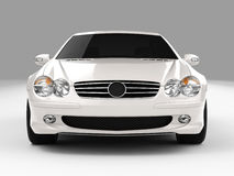 Mercedes SL 500. Realistic render three-dimensional model of the white Mercedes SL 500 Stock Photography