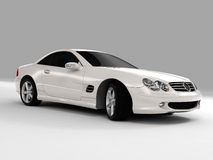 Mercedes SL 500. Realistic render three-dimensional model of the white Mercedes SL 500 Royalty Free Stock Images