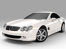 Mercedes SL 500. Realistic render three-dimensional model of the white Mercedes SL 500 Royalty Free Stock Photos