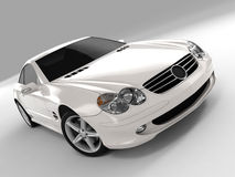 Mercedes SL 500. Realistic render three-dimensional model of the white Mercedes SL 500 Stock Photo