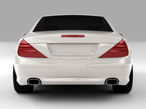Mercedes SL 500. Realistic render three-dimensional model of the white Mercedes SL 500 Royalty Free Stock Photo