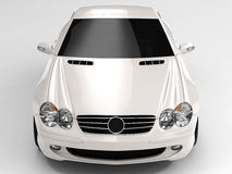 Mercedes SL 500. Realistic render three-dimensional model of the white Mercedes SL 500 Stock Images