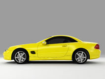 Mercedes SL 500. Realistic render three-dimensional model of the yellow Mercedes SL 500 Stock Images