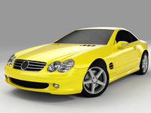 Mercedes SL 500. Realistic render three-dimensional model of the yellow Mercedes SL 500 Royalty Free Stock Photo
