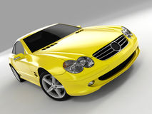 Mercedes SL 500. Realistic render three-dimensional model of the yellow Mercedes SL 500 Royalty Free Stock Images