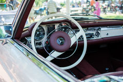Mercedes SL280 from 1971 on Annual oldtimer car show Subotica 2015. Subotica,Serbia -July 05,2015:Mercedes SL280 from 1971 on Annual oldtimer car show Subotica Stock Photo