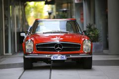 MERCEDES SL. 1970 MERCEDES 280SL classic car on display Royalty Free Stock Images