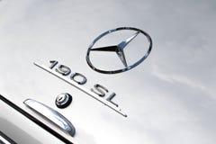Mercedes 190 SL - contador de tiempo viejo Imágenes de archivo libres de regalías