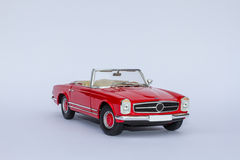 Mercedes 280SL convertible model car Stock Images
