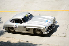 Mercedes 1955 300 SL Coupé chez Mille Miglia Photo libre de droits