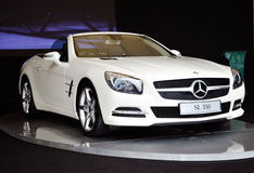 Mercedes SL350 on display Royalty Free Stock Images