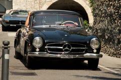 Mercedes 300 SL Gullwing à Bergame Grand prix historique 2017 Image libre de droits