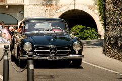 Mercedes 300 SL Gullwing à Bergame Grand prix historique 2017 Images libres de droits