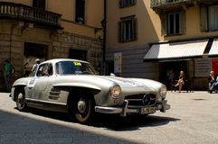 Mercedes 300 SL in Mille Miglia 2016 Royalty-vrije Stock Foto