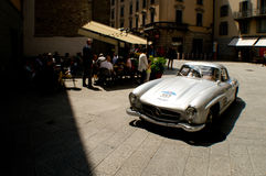 Mercedes 300 SL in Mille Miglia 2016 Royalty-vrije Stock Fotografie