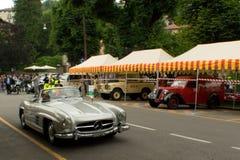 Mercedes 300 SL Spyder al Gran Premio storico 2015 di Bergamo Immagine Stock