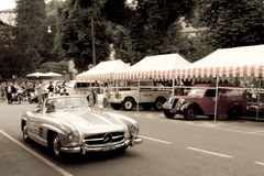 Mercedes 300 SL Spyder at Bergamo Historic Grand Prix 2015 Royalty Free Stock Image