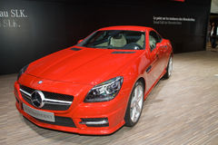 Mercedes SLK 250 BlueEfficiency - Geneva 2011 Stock Photos