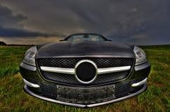 Mercedes SLK 200 Cabrio von der Front Lizenzfreie Stockfotos