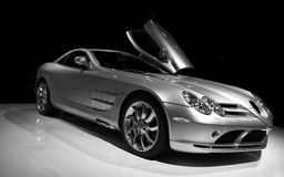 Mercedes SLR. 3/4 view stock photography