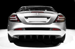 Mercedes SLR. Back view - no trademarks stock photos