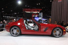 Mercedes SLS AMG. Mercedes exposition at Chicago auto show 2011 Stock Image