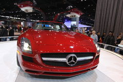Mercedes SLS AMG. Mercedes exposition at Chicago auto show 2011 Stock Photography