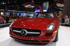 Mercedes SLS AMG. Mercedes exposition at Chicago auto show 2011 Royalty Free Stock Photography