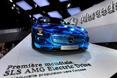 The Mercedes SLS AMG Electric Drive Royalty Free Stock Image