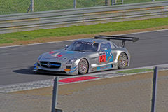 Mercedes sls amg gt3. On race Royalty Free Stock Photography
