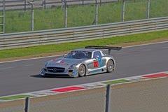 Mercedes sls amg gt3. Mercedes sls smg gt3 on track stock image
