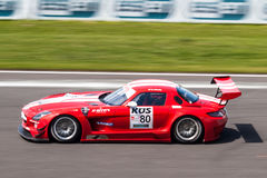 Mercedes SLS AMG race car Stock Photography