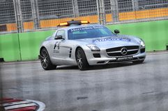 Mercedes SLS AMG Safety car Stock Photo