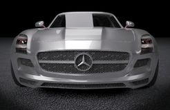 Mercedes SLS AMG sports car Royalty Free Stock Photos