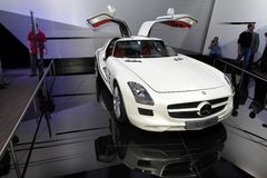 The Mercedes SLS AMG supercar Stock Photography