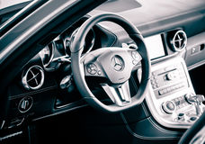 Mercedes SLS Cockpit Stock Photo