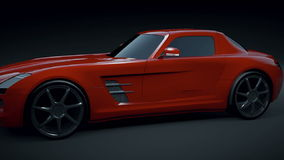 Mercedes SLS 2011 3D Animation stock video