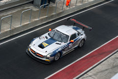 Mercedes SLS FIA GT Göra full av hål-stoppar Arkivbilder