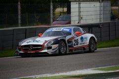 Mercedes SLS GT3 italienisches GT 2015 in Monza Lizenzfreie Stockfotos