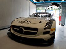 Mercedes SLS GT3 in Monza Royalty Free Stock Photography