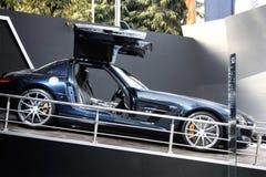 Mercedes SLS su visualizzazione all'Expo automatica 2012 Fotografia Stock Libera da Diritti