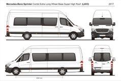 Mercedes Sprinter Extra LWB Telhado alto super Combi Van L4H3 2017 ilustração royalty free